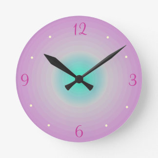 Pink aqua > Childrens Wall Clock