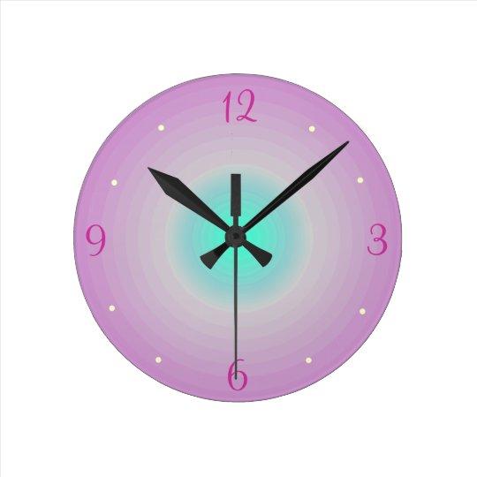 Pink aqua > Childrens Wall Clock