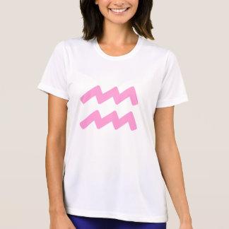Pink Aquarius Symbol T Shirts
