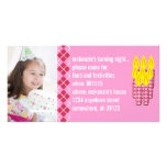 Pink Argyle Birthdy Photo Invitation