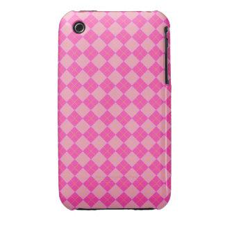 Pink argyle Case-Mate iPhone 3 case