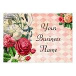 Pink Argyle Floral Business Card