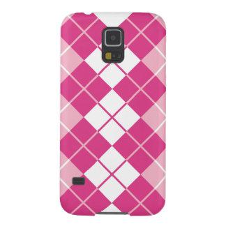 Pink Argyle Galaxy S5 Case