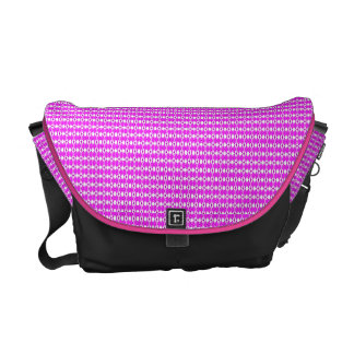 Pink Argyle Messenger Bag