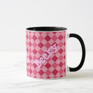 Pink Argyle Monogram Mug