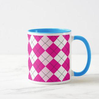Pink Argyle Mug