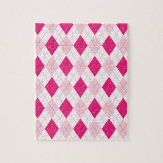 Pink Argyle Pattern Puzzle