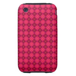 Pink argyle pattern tough iPhone 3 case