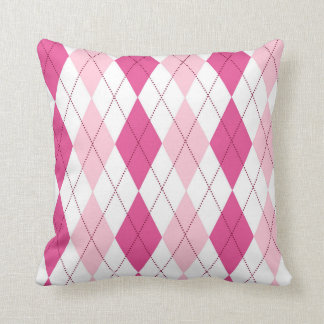 Pink argyle pillow