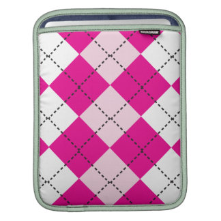 Pink Argyle Sleeves For iPads