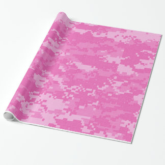 Pink ARMY ACU Camo Camouflage Wrapping Paper