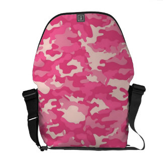 Pink Army Military Camo Camouflage Pattern Texture Messenger Bags