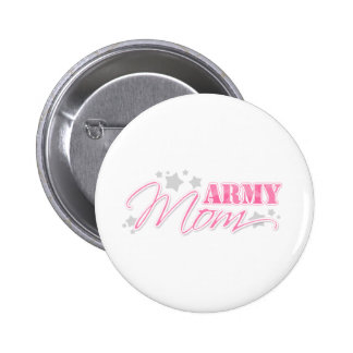Pink Army Mom Pinback Buttons