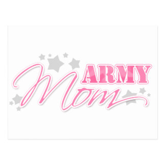 Pink Army Mom Postcard