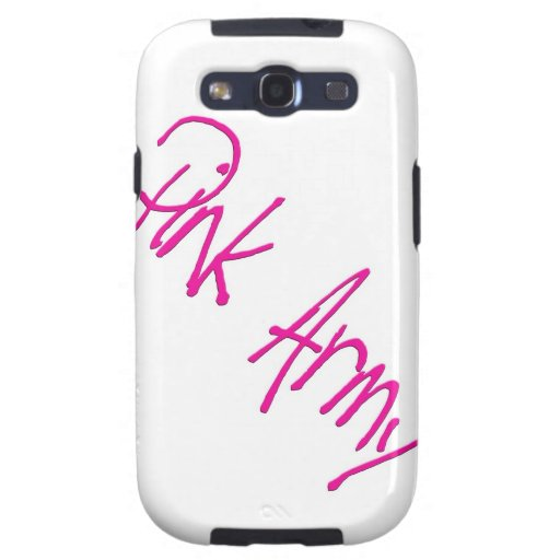 Pink Army representing women of the army! Samsung Galaxy SIII Cases
