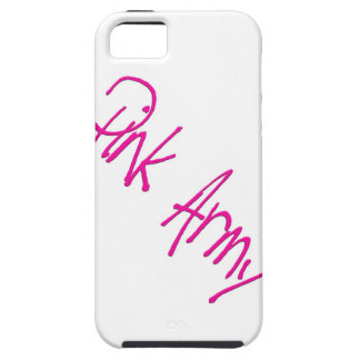 Pink Army representing women of the army iPhone 5 Cover