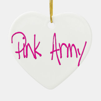 Pink Army representing women of the army! Ceramic Heart Decoration