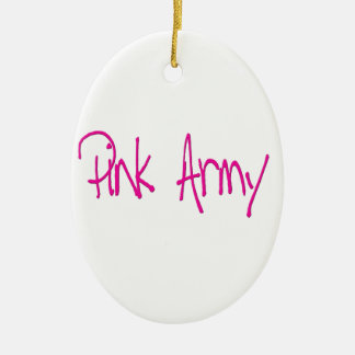Pink Army representing women of the army! Ceramic Oval Decoration