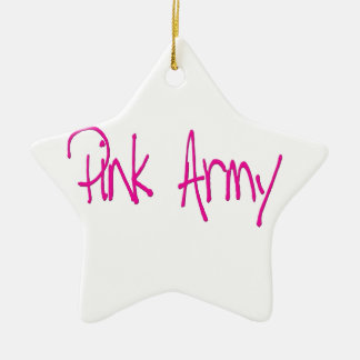 Pink Army representing women of the army Ornament