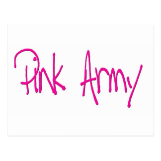 Pink Army representing women of the army Post Card