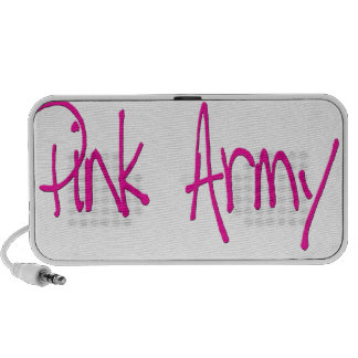 Pink Army representing women of the army! Mp3 Speaker