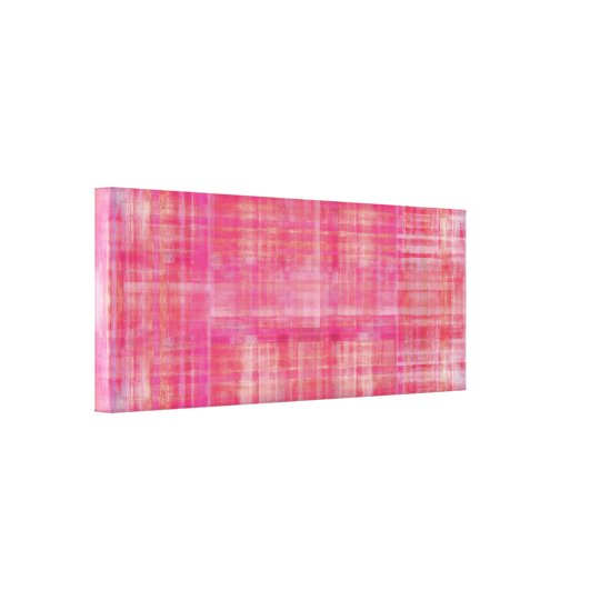 Pink Art Colour Painting Wrapped Canvas Print