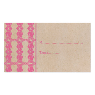 Pink Art Deco Border Place Card Double-Sided Standard Business Cards (Pack Of 100)