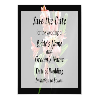 Pink Asiatic Lilies Closeup Save the Date Magnetic Invitations