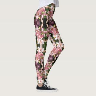 Pink Asiatic Lilies Leggings