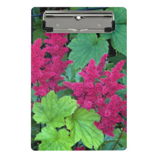 Pink Astilbe Blooms Floral Mini Clipboard