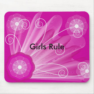 pink-astract-background, Girls Rule Mouse Mat