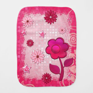 Pink at Play Jeweled Baby Burp Cloths