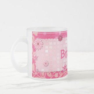 Pink at Play Jeweled PERSONALIZED Frosted Glass Coffee Mug
