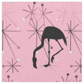 Pink Atomic Starburst MidCentury Modern Flamingo Fabric