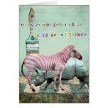 PinK Attitude Animals Greeting Card