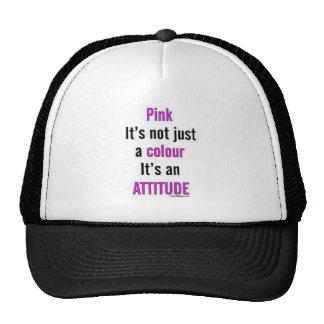 PINK ATTITUDE CAP