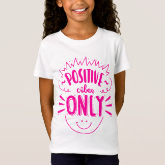 Pink Attitude Quote Happy Face Dreams Girls T-Shirt
