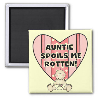 Pink Auntie Spoils Me Tshirts and Gifts Magnet