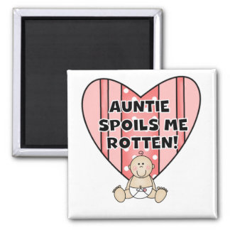 Pink Auntie Spoils Me Tshirts and Gifts Refrigerator Magnets