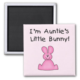 Pink Auntie's Little Bunny T-shirts and Gifts Magnet