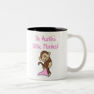 Pink Auntie's Monkey Coffee Mugs