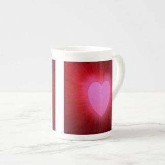 Pink Aura Heart Bone China Mug