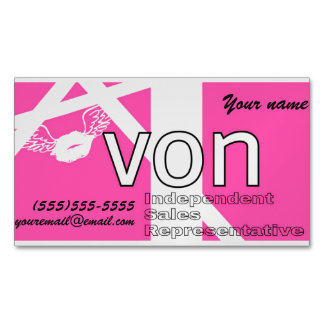Pink Avon Personalised Magnetic Business Cards