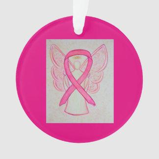 Pink Awareness Ribbon Angel Customized Ornaments