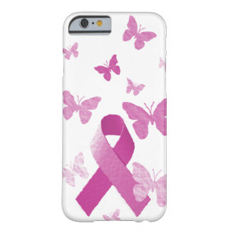 Pink Awareness Ribbon Barely There iPhone 6 Case