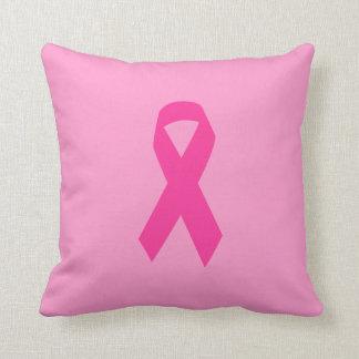 Pink Awareness Ribbon Cushion