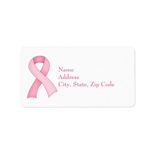 Pink Awareness Ribbon Labels 0001