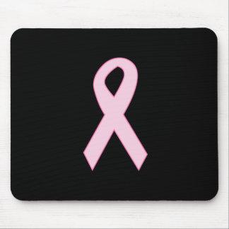 Pink Awareness Ribbon Mousepads