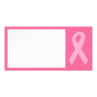 Pink Awareness Ribbon Personalized Photo Card