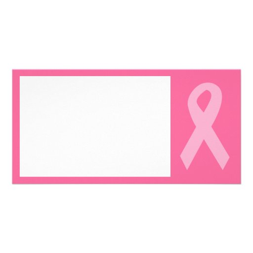 Pink Awareness Ribbon Photo Cards